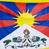 Københavns Politi greb ind mod dette flag under statsbesøget af præsident Hu Jintao i 2012. En kommission søger at opklare, hvorfor ordensmagten greb ind mod tibetanske flag (arkivfoto). Foto: Free/Www.colourbox.com