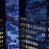 Arkivfoto. Deutsche Banks hovedkontor i Frankfurt.
