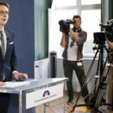 Skatteminister Karsten Lauritzen under fremlæggelsen af regeringens plan for boligbeskatning ved et pressemøde i Finansministeriet onsdag 5. oktober 2016 . (Foto: jens Astrup/Scanpix 2016)