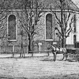 Frederiksberg Kirke midt i 1800-tallet.
