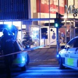 Politiet afspærrer Magasin i Lyngby tirsdag aften d. 22. november 2016 efter skyderi i stormagasinet. (Foto: Mathias Øgendal/Scanpix 2016)