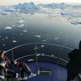 Hovedparten af de omkring 1.000 velhavere fra hele verden på krydstogtskibet har gennem det danske rejsebureau, Arctic Adventure, bestilt plads på bus- og bådture for netop at se indlandsisen, isbjerge og byen.