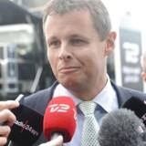 Rigspolitiet vil have nybygget politiskole - borgmester Lars Krarup, Herning, ankommer til hovedbestyrelsesmødet i Odense.