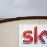 Sky News' logo i Isleworth, London.