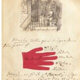 Uddrag af H.C. Andersens billedbog til Marie Henriques, 1869. Free/Bruun Rasmussens Kunstauktioner