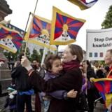 Tibetkommissionen er blevet nedsat for at få opklaret årsagen til politiets indgreb i ytringsfriheden. Folk blev hindret i at vifte med tibetanske flag, og politiet skærmede tilsyneladende også en demonstration, således at Hu Jintao ikke så den. (Foto: Dennis Lehmann/Scanpix 2016)