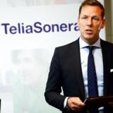 Telias topchef, Johan Dennelind, ændrer på sin topledelse. Arkivfoto: Maja Suslin, TT/AFP/Scanpix