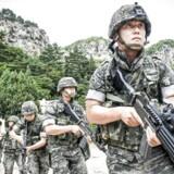 ARKIVFOTO: Medlemmer af det sydkoreanske marinekorps.