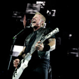 Metallica, lørdag d. 2. September 2017 i Royal Arena i København. Her ses forsanger James Hetfield.