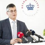 Direktør for dansk arbejdsmarked Fini Beilin til pressemøde om forslag til ny ferielov. Ferielovsudvalget præsenterer sit forslag til en ny ferielov for beskætfigelsesminister Troels Lund Poulsen (V) på et pressemøde tirsdag den 22. august, 2017.