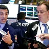 Arkivfoto. Der er udsigt til en flad start på den amerikanske handel med aktier mandag, hvor humøret generelt er til den svage side i Europa, mens de danske aktier ellers stiger pænt.