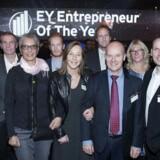 EY Entrepreneur of the Year i Bella Center. Vinderne af region Sjælland. Midt i billedet ses dir. Marie-Louise Bjerg og stifter Lars Bjerg. Den 24. november 2016.