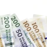Danske penge. Pengesedler og mønter.