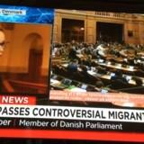 Dedanske tramninger på asylområdet har fået international opmærksomhed. Tirsdag var det breaking news på CNN, da asylstramningerne blev stemt igennem i Folketinget.