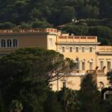"""Villaen """"Les Cèdres"""", der har tilhørt den belgiske kong Leopold II, på Saint-Jean Cap Ferrat i Sydfrankrig"""