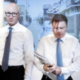 Årsregnskab i Novo Nordisk med koncernchef Lars Fruergaard Jørgensen og CFO Jesper Brandgaard.. (Foto: Liselotte Sabroe/Scanpix 2017)