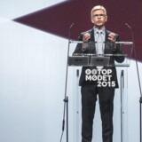 Her ses adm. direktør i DI Karsten Dybvad på talerstolen til Dansk Industri's topmøde i Forum tirsdag d. 29 september 2015. (Foto: Simon Skipper/Scanpix 2015)
