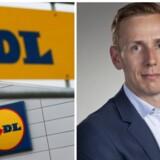 Jesper Højer, 38, kommer til at stå i spidsen for flere 200.000 ansatte, når han overtager posten som direktør i discountkæden Lidl. PR/REUTESR/Philippe Wojazer