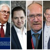 Fra venstre: Jesper Boelskifte, Rex Tillerson, Ulrik Drejsing, Peder Larsen, Christian Hyldahl og Jesper Brandgaard.