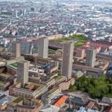 'Flade' Vesterbro bliver indtaget af ni høje tårne, når Carlsberg Byen står færdig. Foto: PR