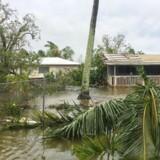 Cyklonen Gita har forårsaget store ødelæggelser i Tonga, der forud for cyklonens ankomst mandag erklærede undtagelsestilstand i hele landet. Reuters/Social Media