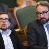 LA's finansordfører Ole Birk Olesen langede ud efter Venstre under tirsdagens debat om regeringens finanslovsforslag i folketingssalen. Scanpix/Ólafur Steinar Gestsson