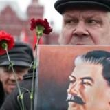 Indbyggere Moskva markerer 61-årsdagen for Josef Stalins dødsdag. Fotoet er fra marts 2014.