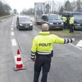 ARKIVFOTO. AGrænseovergang i Padborg by.