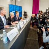 På et pressemøde onsdag præsenterede Danske Bank en advokatundersøgelse af hvidvasksagen. Foto: Asger Ladefoged