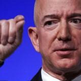 Jeff Bezos, adm. direktør i Amazon, planlægger ifølge Bloomberg News at åbne 3.00 fysiske butikker frem mod 2021. Arkivfoto: Alex Wong / Getty Images / AFP