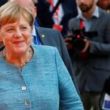 Angela Merkel, den tyske kansler, ankom i aftes til topmødet i østrigske Salzburg.