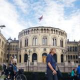 en russisk statsborger blev søndag sigtet for spionage i den norske parlamentsbygning. Arkivfoto: Kyrre Lien/AFP