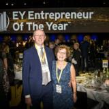Entrepreneur of the Year 2017 i Forum. En af vinderne: Aller Aqua. Direktør Hans Erik Brylling med sine kone Grethe Brylling.
