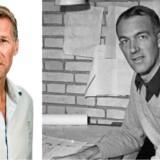 Til venstre: Jon Stephensen, uddannet arkitekt og journalist og i dag teaterdirektør på Aveny-T. Til højre: Jørn Utzon fotograferet i sit hjem i januar 1957, året hvor han vandt konkurrencen om at tegne et nyt operahus i Sydney. Foto: Scanpix/Ulf Nilsen