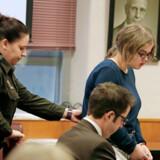 Den nu 15-årige Morgan Geyser blev 1. februar i år idømt 40 års forvaring på et sindssygehospital. Foto: Rick Wood/Milwaukee Journal-Sentinel via AP
