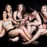 Fra venstre mod højre: Matilde Trobeck, Annika Hayn, Katrine Gisiger, Ida Rud og Lykke Bak.
