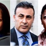 Naser Khader i midten har rettet en række personangreb mod de to kvinder Sherin Khankan (til venstre) og Khaterah Parwani (til højre). Han beskyldes for udokumenterede påstande og forsøg på karaktermord.
