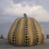 Yayoi Kusama: Pumpkin. Fra molen på Naoshima. Foto: Shigeo Anzai