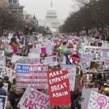 Womens March i Washington. EPA/MICHAEL REYNOLDS