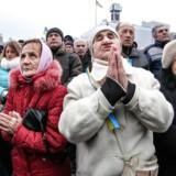 Maidan-pladsen i det centrale Kiev.