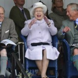 "Members of Britain's royal family (front L-R) Prince Philip, Queen Elizabeth and Prince Charles cheer during the Braemar Gathering in Braemar, Scotland in this September 1, 2012 file photo. Queen Elizabeth celebrates her 90th birthday on April 21, 2016. REUTERS/Russell Cheyne/Files SEARCH 'Queen 90th"" FOR ALL IMAGES"
