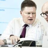 Ifølge Novo-topchef, Lars Fruergaard Jørgensen, (th.) har det længe været planlagt, at Jesper Brandgaard (tv.) skulle forlade selskabet.
