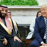 Donald Trump mødes med Saudi-Arabiens kronprins i Det hvide hus i marts 2018. De to lande har i en årrække været tætte allierede.