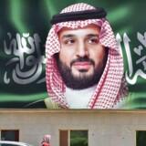 Saudi-Arabiens kronprins, Mohammed bin Salman, portrætteret i millionbyen Riyadh. Kronprinsen må sætte ekstra gang i reformer af den saudiske økonomi, fremhæver Dansk Erhverv.