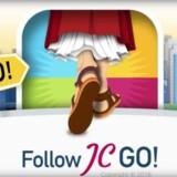 Følg med Jesus - og fang helgener. Skærmbillede fra Google Play-butikken.