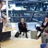Jacob Holm, topchef i Fritz Hansen A/S, overleverede som formand for vækstteamet for kreative erhverv mandag sine anbefalinger til kulturminister Mette Bock (LA) og erhvervsminister Rasmus Jarlov (K) i BloxHub i København. Foto: Liselotte Sabroe/Ritzau Scanpix