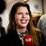 Franciska Rosenkilde taler med pressen, efter at Alternativet i København har valgt hende som kulturborgmester på Kulturstationen i Vanløse søndag den 28. oktober 2018. Foto: Philip Davali/Ritzau Scanpix