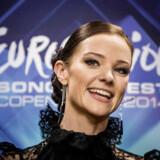 Som vært ved Melodi Grand Prix 2014 nåede Louise Rønne ud til 180 millioner TV-seere. Foto: Thomas Lekfeldt/Ritzau Scanpix