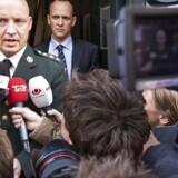 """Oberst i Forsvarskommandoen Hans-Christian Mathiesen i Fogedretten i forbindelse med bogen """"Jæger - i krig med eliten"""", den 21. september 2009. Den danske hærchef beskyldes for at have ændret kriterier for uddannelse, så det gavnede kærestens karriereforløb."""