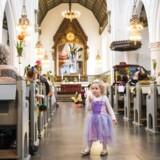 Sankt Jakobs Kirke på Østerbro har afholdt fastelavns-gudstjeneste, og snart vil kirken være åben for drop-in-dåb. Foto: Søren Bidstrup